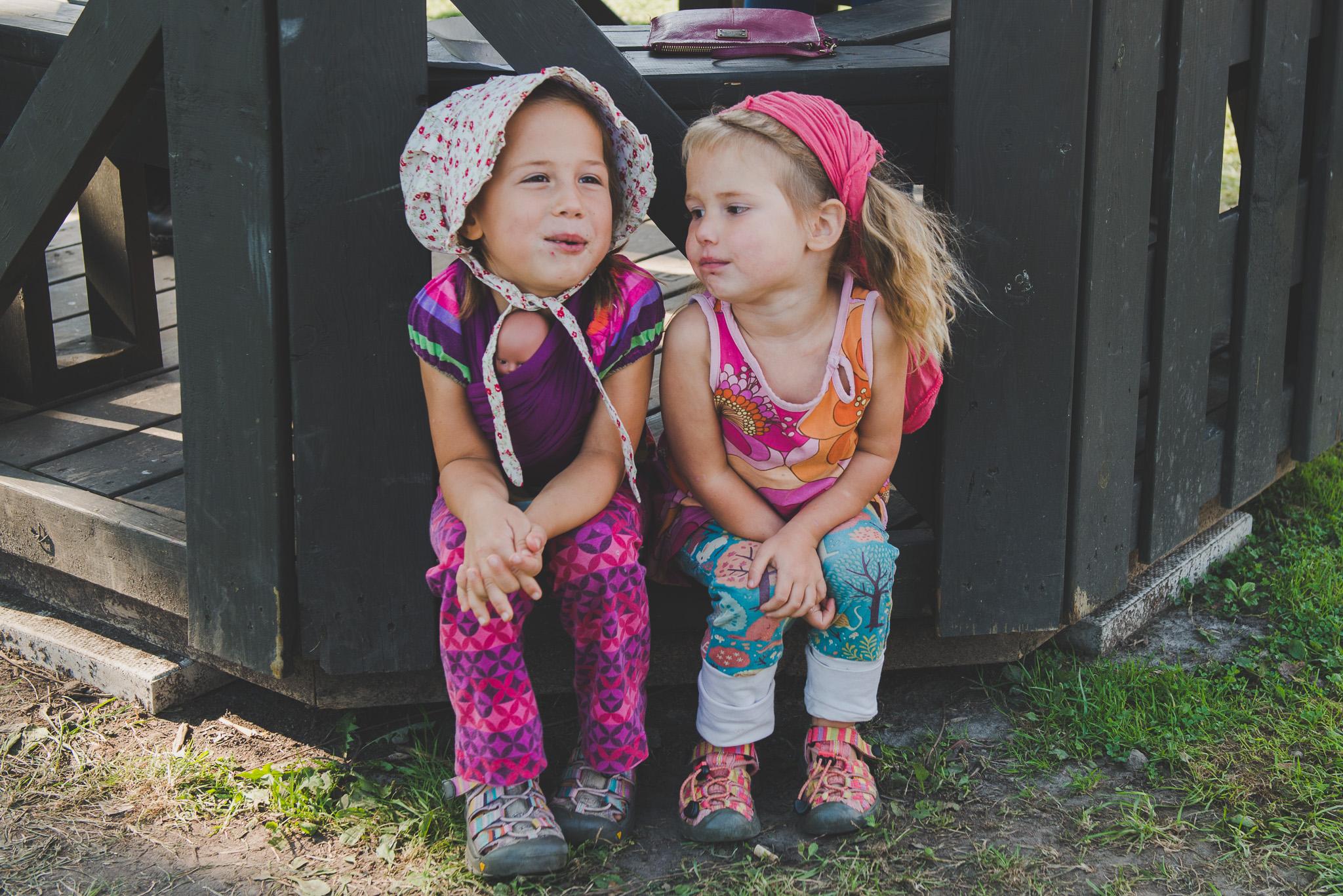 Girls enjoying the music