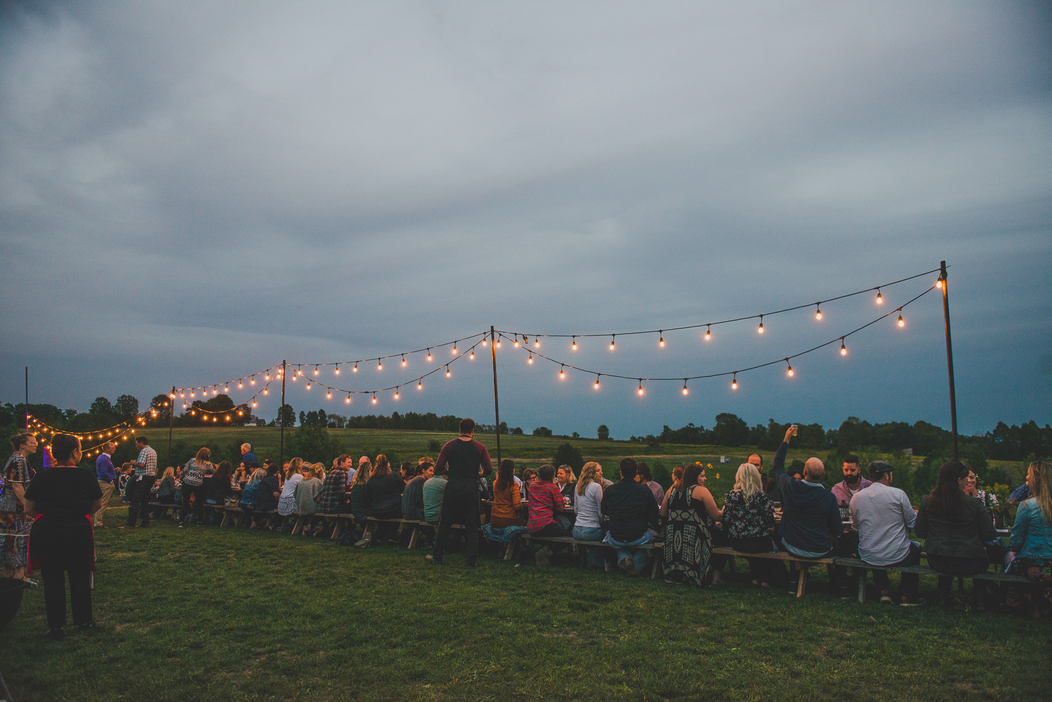 Curated long table experience at Headwaters Farm